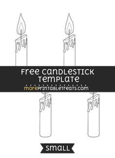 Free Candlestick Template - Small