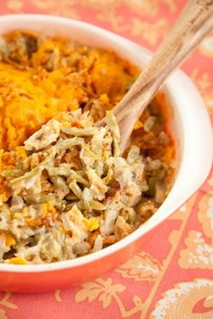 Paula Deen Green Bean Casserole - my mom made this for Thanksgiving and it was so good.