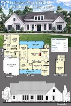 Good Architectural Designs Exclusive House Plan 51770HZ Gives You Just Over  2,700 Square Feet Of Heated Living