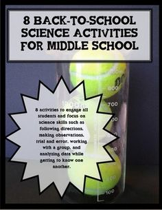 For many middle school science students, this will be their first year of having science as a stand-alone class. Additionally, many middle schools are comprised of students coming from several different elementary schools. You can use these Back-to-School activities to help students practice the expectations of a science class, plus learn about each other.