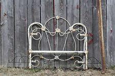 Antique Cast Iron Bed Sz Single Complete with Rails