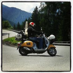 Vespa on The road