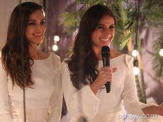 As atrizes gravam depoimento para o vídeo no i ntervalo das cenas (Foto: Pedro Curi/TV Globo)
