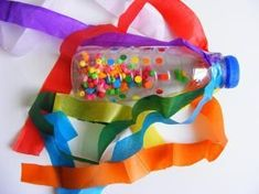 Purim is a joyous holiday meant for partying, and we love the silly and sometimes zany touches people add to their celebrations. Rainbows are a common Purim theme, and you can use them in your tabl… Preschool Music, Preschool Crafts, Carnaval Baby, Toddler Activities, Preschool Activities, Leadership Activities, Music Activities, Group Activities, Halloween Girlande
