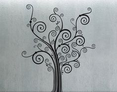 Swirly Tree 3   Wall Decal Vinyl Decor Art Sticker by UberDecals, $79.99