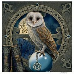 Spellkeeper Owl - wandbord Lisa Parker - 28 x 28 cm