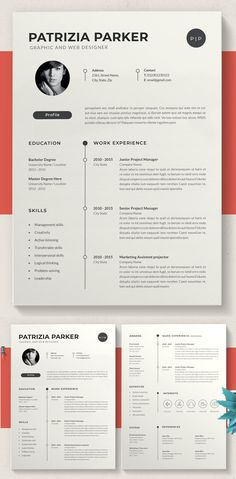 Modern Resume Template, Creative Resume Templates, Cv Template, Graphic Design Resume, Letterhead Design, Cv Design, Simple Resume, Active Listening, Senior Project