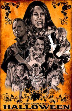 He's On His Way Home : Alternative Halloween Poster Art That Reveals The Boogeyman! Halloween Film, Halloween Poster, Halloween Horror, Haunted Halloween, Halloween 2013, Halloween Night, Halloween Stuff, Vintage Halloween, Halloween Ideas