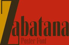 Zabatana poster by deFharo on @creativemarket