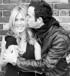 Jennifer Aniston And Justin Theroux. Love these 2 together!