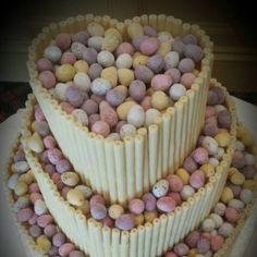 Beautiful Easter wedding cake Christening, Wedding Cakes, Easter, Weddings, Breakfast, Beautiful, Food, Wedding Gown Cakes, Morning Coffee