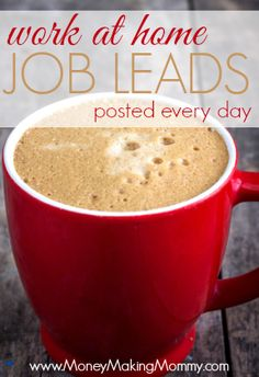 Find fresh, new work at home job leads every day at MoneyMakingMommy.com. Find that work at home dream job today! #workathome