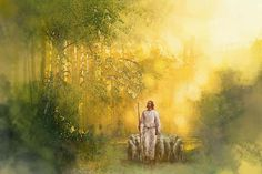 picture of jesus christ when the man was lowered through the roof to be healed Images Of Christ, Pictures Of Jesus Christ, Bible Pictures, Paintings Of Christ, Jesus Painting, Lord Is My Shepherd, The Good Shepherd, Lds Art, Bible Art