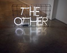 'The Other' Neon by artist Erik Boker