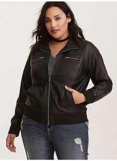 51c71af4f05f1 TORRID   Faux Leather Bomber Jacket