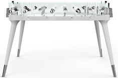The neoteric design of the Teckell foosball table by Adriano Design is a fresh take on the classic table game. Best Foosball Table, Bd Collection, Table Football, Baby Foot, Table Games, Game Tables, Glass Design, Architecture, Game Room