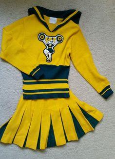 Vintage 1960s Cheerleader 2 PC Uniform Sweater Pleated Skirt 100 Wool Teen S | eBay
