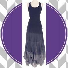 """🌺HOST PICK 2/22🌺SUMMER CHIC OMBRE MAXI Stunning draped stitch trim hem in beautiful black ombré. Perfect for a summer party or an evening out. Elegant yet simple. 100% cotton.                               ♦️S: bust 32-39"""" waist 27-29"""" hips 31-37""""        ♦️M: bust 34-42"""" waist 28-30"""" hips 34-41"""" tla2 Dresses Maxi"""