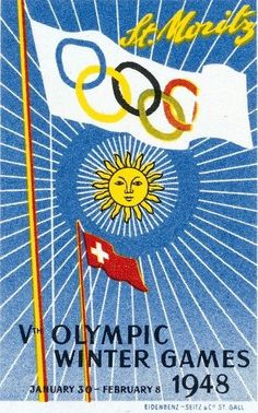 1948 St. Moritz Winter Olympic Games ~ Emil Schulthess