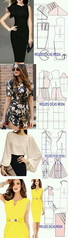 Tremendous Sewing Make Your Own Clothes Ideas. Prodigious Sewing Make Your Own Clothes Ideas. Sewing Dress, Dress Sewing Patterns, Diy Dress, Sewing Clothes, Clothing Patterns, Shirt Dress, Fashion Sewing, Diy Fashion, Diy Kleidung