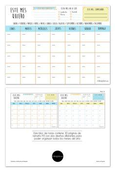 Organizador Mensual Lovely #missplan #organizador #planner