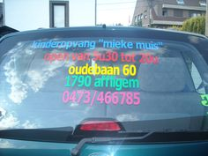 Belettering autostickers autoreclame