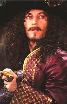 Jason Isaacs as Captain James Hook in Peter Pan (2003).