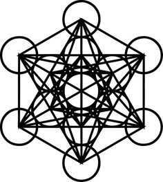 Metatron's Cube sacred geometry Die-Cut Decal