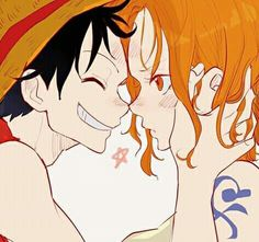 Luffy x Nami - One Piece One Piece ルフィ, Watch One Piece, One Piece Drawing, One Piece Fanart, One Piece Luffy, Old Anime, Anime One, Manga Anime, Final Fantasy
