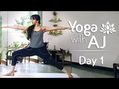Yoga For Posture Correction   Day 1   Yoga For Beginners - Yoga With AJ - YouTube