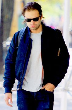 Sebastian Stan out and about in New York 05 Oct 2015