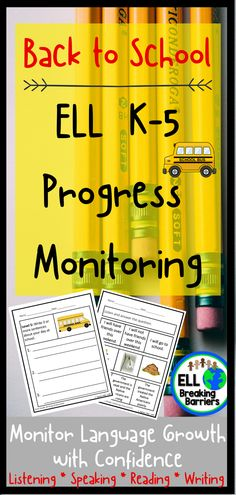 This mega bundle provides you with progress monitoring assessments for ESL ELL EFL EAL ESOL students in grades K-5. Please carefully read which assessments are included as the bundle is GROWING and not yet fully complete. I will update this product as the assessments are complete and send you a note regarding the update when posted. MEGA bundle information below:  **It's an excellent progress monitoring tool to track growth in preparation for the state ACCESS test. Elementary Teacher, Teacher Pay Teachers, Teacher Resources, Classroom Resources, Classroom Ideas, Get To Know You Activities, Back To School Activities, Beginning Of The School Year, Going Back To School