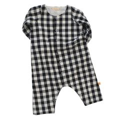 Tiny Cottons Check Woven Onepiece