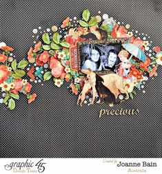 Joanne Bain Raining Cats & Dogs Faber-Castell layout #graphic45