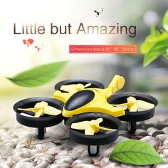 Scorpion Mini Drone Yellow Color Dimensions by podoqo