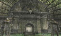 """Locations from Twilight Princess overlaid with what they're theorized to have looked like 100 years ago during Ocarina of Time."""