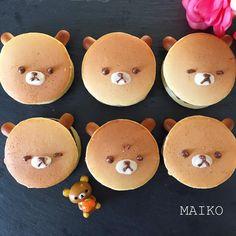 Rilakkumar pancakes by maiko (@inumaiko)