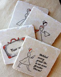 Nurse Art Coasters Gift Gifts Nursing Dr Present by lotuspetale