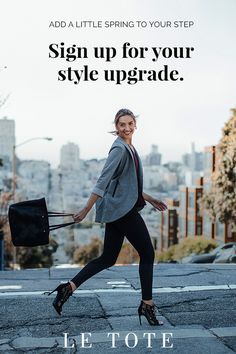 Try Le Tote for $39 a month and get your personalized box of fashion for work, weekend and everything in between delivered. Wear everything for as long as you like, return when you're done and repeat. No styling fees, no purchase required. Sign up today!