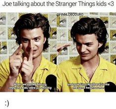 That's what happens when you hire adorable boys who are in there growth spirt for actors. *sips tea* I dunno why i added that last part it just felt right XD ok we're getting off topic I need to stap Joe Keery, Stranger Things Quiz, Stranger Things Have Happened, Steve Harrington, Millie Bobby Brown, Netflix, It Cast, Steven Universe, Tom Hiddleston