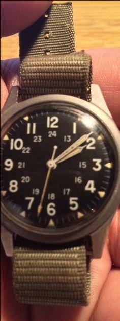 Vintage Benrus Military Watch Mil-W-3818B