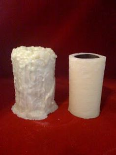 Grunge Toilet Paper Candles | Posted by Jamie-Candle Smiles!!! at 6:02 PM