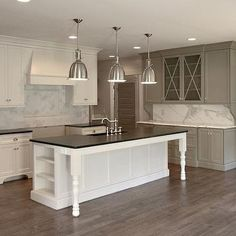 Gray Cabinet Paint Colors, Transitional, kitchen, Benjamin Moore Gettysburg Gray, Fitzgerald Construction