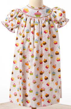 Le' Za Me Smocked Petit Cupcakes Sophia Bishop Dress ~ $68 from The Smock Exchange.