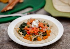 Sweet Potato and Spinach Chicken Tacos