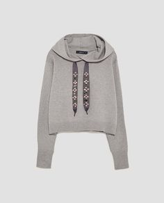 Image 8 of BEJEWELLED DRAWSTRING SWEATSHIRT from Zara