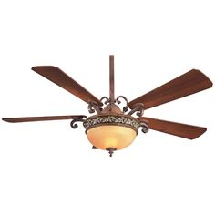 Minka Aire Fans 56-Inch Ceiling Fan with Five Blades and Light Kit | F707-FLP | Destination Lighting
