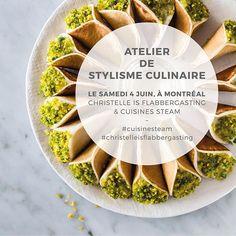 F O O D S T Y L I N G W O R K S H O P   A T E L I E R D E S T Y L I S M E C U L I N A I R E • Salut à tous ! Le 4 juin prochain, à Montréal, je donnerai un atelier de stylisme culinaire chez @cuisinesteam ! Joignez-vous à nous pour une matinée le fun, créative et inspirante (j'espère !) Les tickets sont dispos via Eventbrite. Tous les détails sont dans le lien dans mon profil ! J'ai hâte de vous rencontrer !!!✌ #cuisinesteam #christelleisflabbergasting