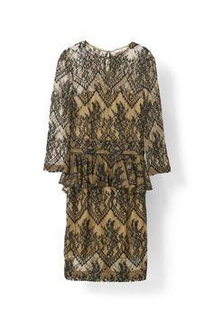 Larkin Lace Dress, Tobacco Brown/Black