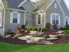 These are three of the most useful front yard landscaping ideas that have been used by homeowners in the past. The charm of these front yard landscaping ideas. Garden Design, Landscaping Tips, Courtyard Landscaping, Landscape Projects, Backyard Landscaping, Landscaping With Rocks